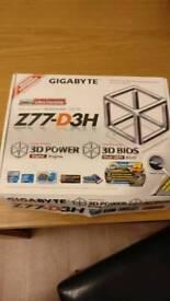 Gigabyte Z77-D3H Intel motherboard