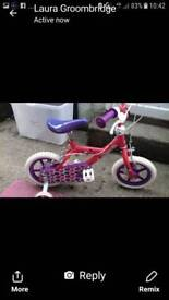 "Girls 14"" cupcake bike"