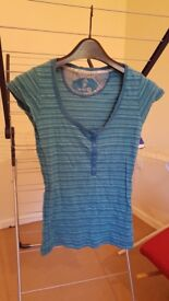 Fat face top blue striped size 14 (but fits more like a 10-12)
