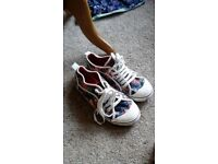 Cute floral lightweight canvas trainers