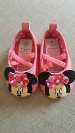 Baby age 3-6 months Minnie Mouse shoes