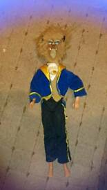 Disney's Beast doll with beast face mask and jacket