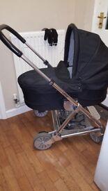Mamas & Papas Urbo Pram/Puschair, used good condition, pram hardly used, footmuff and raincover inc