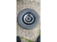 15 inch four stud tyre and rim renault 1999