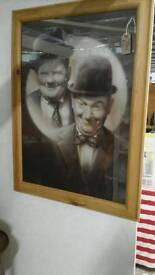 Laural and hardy picture framed