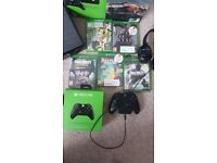 Xbox One 500gb with Box - 5x Games, Headset and Spare Controller