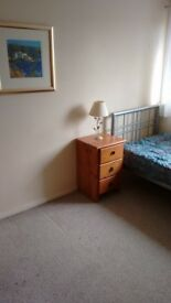 A large and light double room in a detached house with gardens