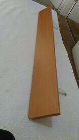 Wood effect long radiator shelf. Sits over radiator - no fixings required.