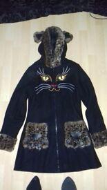 Banned ladies coat black size 8