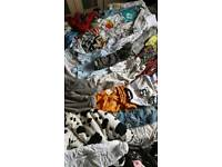 12 black bags of boys clothes