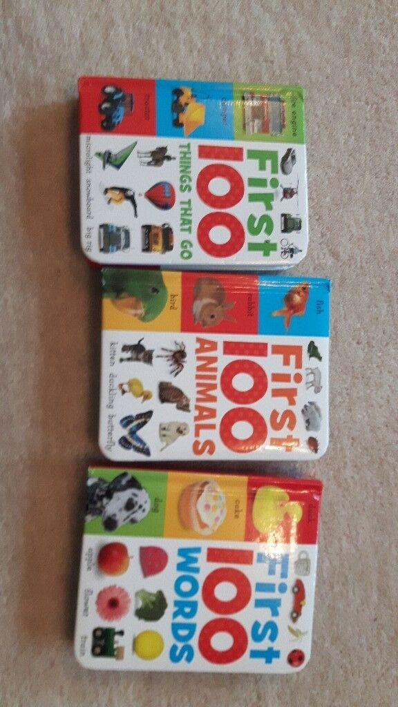 First 100 childrens word books