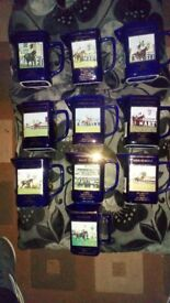 10 Commemorative Grand National Water Jugs 1991-2000 incl. 1993 Race Void.