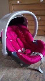 Mamas & Papas Cybex Aton Car Seat, Pink