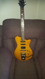 Shine SI-803HS Electric Guitar with Wilkinson Wigsby Tremolo and Humbucker Hot Rail Pickups.