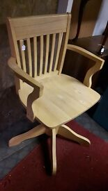Heavy Solid Beech Captain Chair