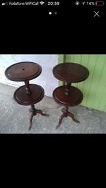 Pair of wotnot tables