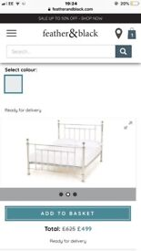 Black & Feather Double Bed