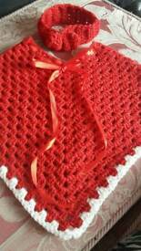 Red sparkle poncho
