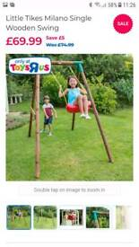 Little Tikes Milano wooden swing