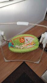 Fisher Price Rainforest Friends Spacesaver Cradle n Swing