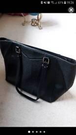 New look black handbag