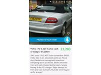 Very low mileage volvo c70. Bargain! Priced to sell this week. 10 months M.O.T