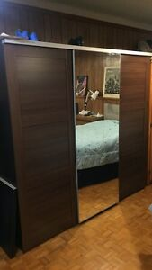 Brown wooden wall cabinet