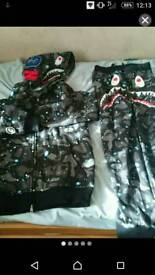 Bape hoodie and trousers
