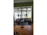 Multi-gym incline decline flat barbells bars