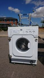 indesit iwde126 washer dryer built in