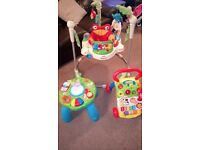 Fisher price Jumperoo, Vtech Baby Walker and Leap Frog Activity Table Excellent Condition