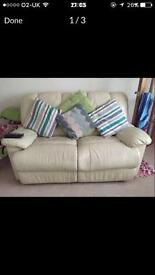 2 leather recliner sofas