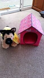 build a bear dog, kennel and beds