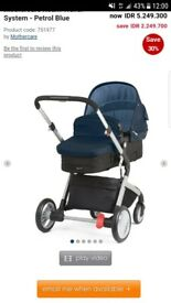 Mothercare travel system in blue