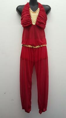 Dance Costume Small Adult Red Genie Character Ferreira Jazz Tap Solo - Red Genie Costume