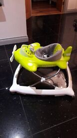 Baby Walker Lime Green and Grey Aeroplane