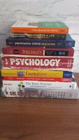 9 PSYCHOLOGY TEXT BOOKS...DEGREE OR A LEVEL