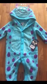 Baby monster inc fleece all in one ( brand new with tags)