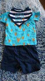 Large bundle of baby boys clothes newborn 0-3 months