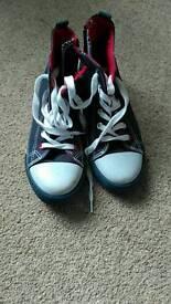 Girls baseball style boots