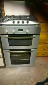 Indeset double oven with hob
