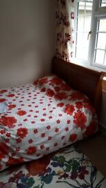 Wooden Double Sleigh Bed