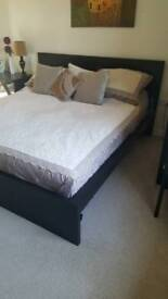 Super King Ikea Bed frame with mattress