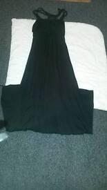 ladies evening dress black full length new look size 10