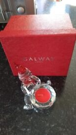 Galway crystal living christmas bear votive