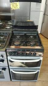 CANNON 50CM GAS DOUBLE OVEN COOKER IN SILVER