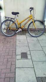 "Yellow Emmell Galaxy Mountain Bike, 26"" Wheels, 5 Speed, 17"" Frame"