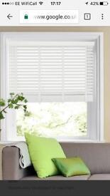 Ecowood Deluxe pure white Venetian blind new - half price
