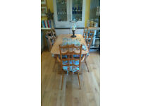 VINTAGE ERCOL (VERY RARE) CHAIRS AND TABLE