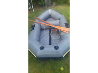 Avlon Redcrest Inflatable boat with oars, seat, and repair kit